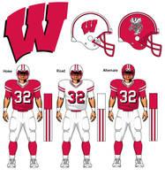 Wisconsin Badgers uniform concept by TheGreatKtulu