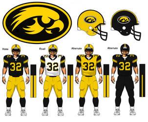 Iowa Hawkeyes uniform concept by TheGreatKtulu