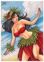 Island Dreams - Hula Girl by AmyClark