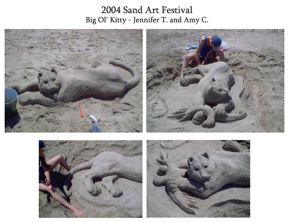 Sand Art Kitty by AmyClark