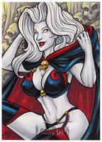 Lady Death Sketch Card All-Stars AE by AmyClark