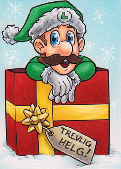 Christmas Luigi by AmyClark