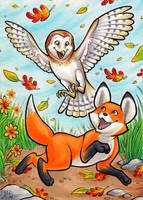 The Fox and the Owl by AmyClark