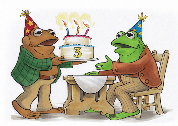 frog and toad birthday by amyclark on deviantart rh deviantart com Frog On Lily Pad Clip Art frog and toad clipart