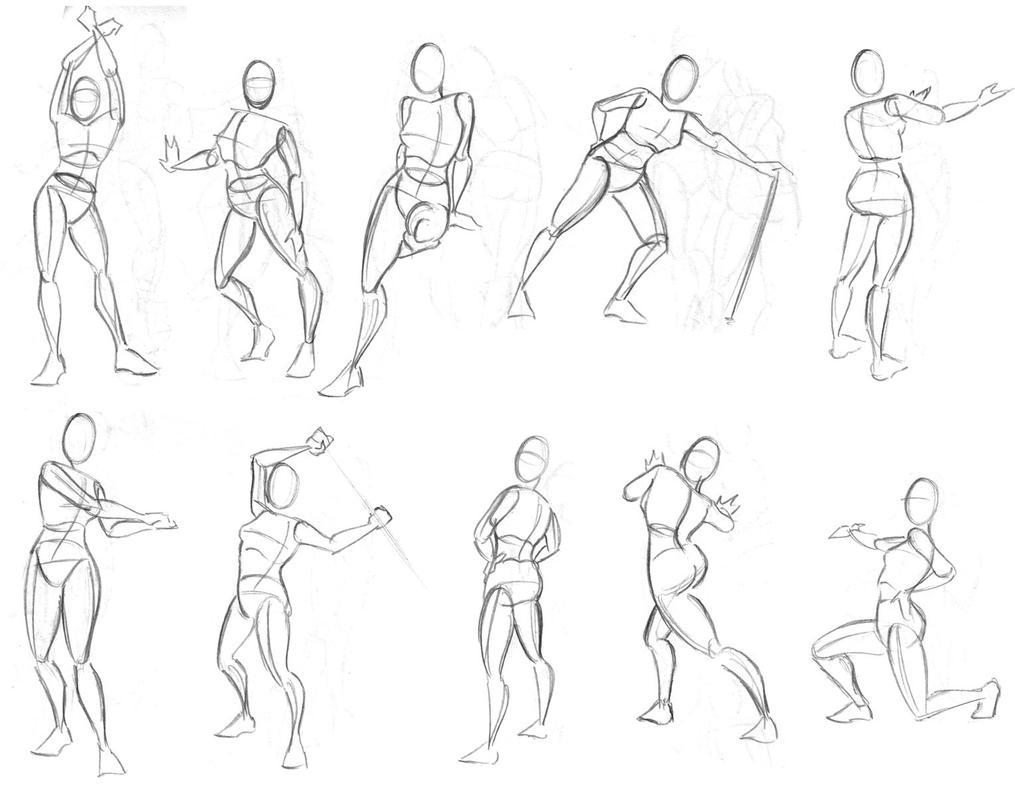 Позы человека рисование картинки 8