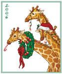 Christmas Giraffes by AmyClark
