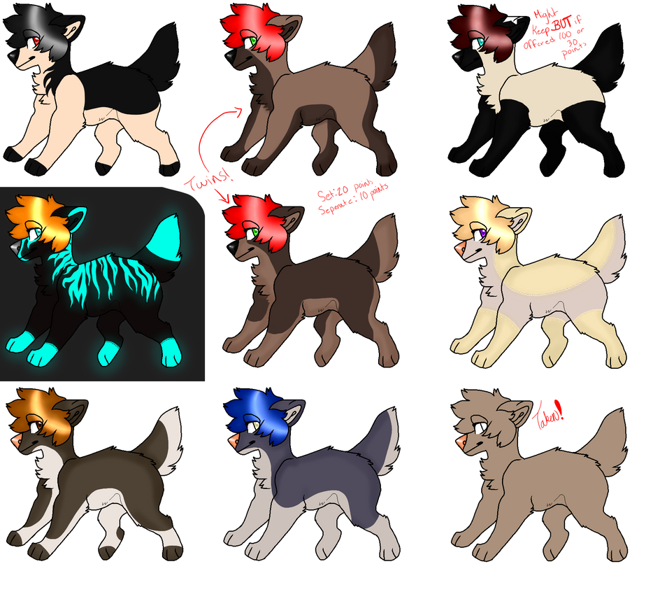 . 10 Points Canine Adoptables OPEN 8/9 . by CrowMutt