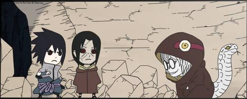 Naruto 578 - Sasuke And Itachi VS Kabuto by GwenSour