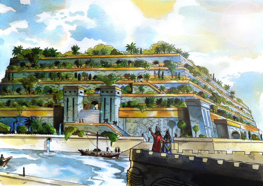 The Hanging Gardens Of Babylon By Larsrune On Deviantart