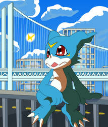 digimon odaiba day veemon