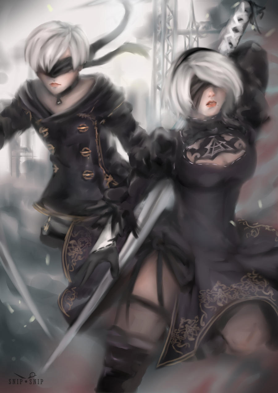 Nier Automata by SnipSnipArt