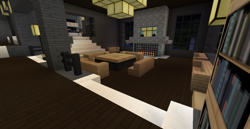 The gallery for minecraft modern bedroom for Minecraft dining room designs