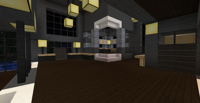 Modern Kitchen Minecraft modern minecraft mansion - kitchenthefawksyartist on deviantart