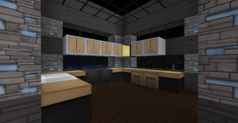 Modern minecraft mansion kitchen by thefawksyartist on for Kitchen ideas minecraft
