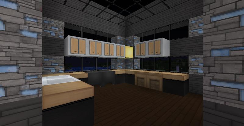 Modern minecraft mansion kitchen by thefawksyartist on for Kitchen ideas minecraft