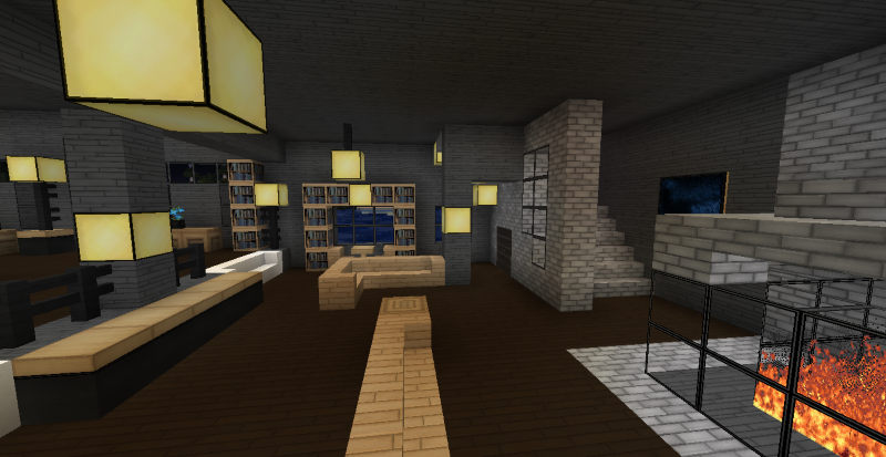 Top minecraft modern living room wallpapers for Living room ideas in minecraft