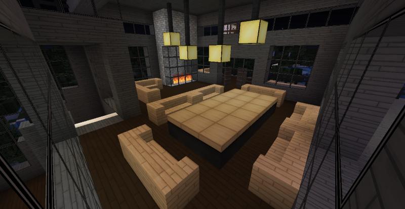 Modern Minecraft Mansion   Main Dining Hall #2 By TheFawksyArtist ...