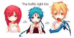 [magi] traffic light trio by califlair