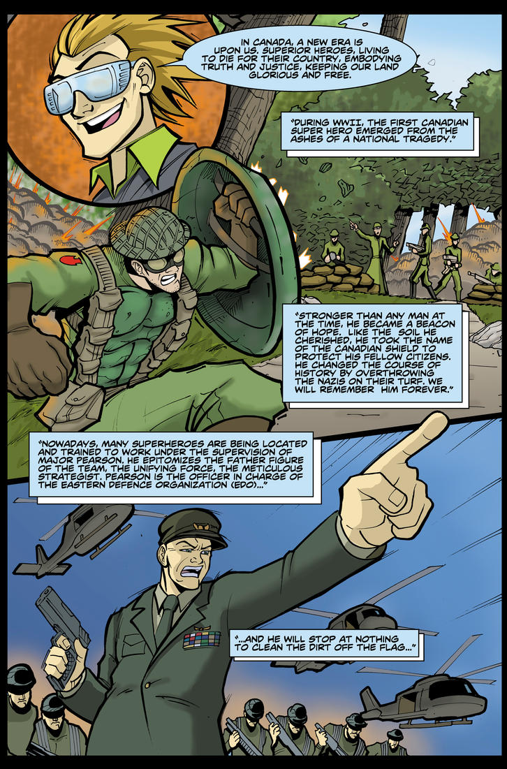 Alpha Q pg 4 Heroes of the North by KeirenSmith