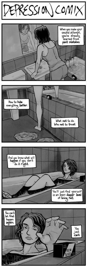 depression comix #434 [tw: suicide]