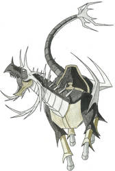 Metal Horse Drawing by Yahto-Belmonte