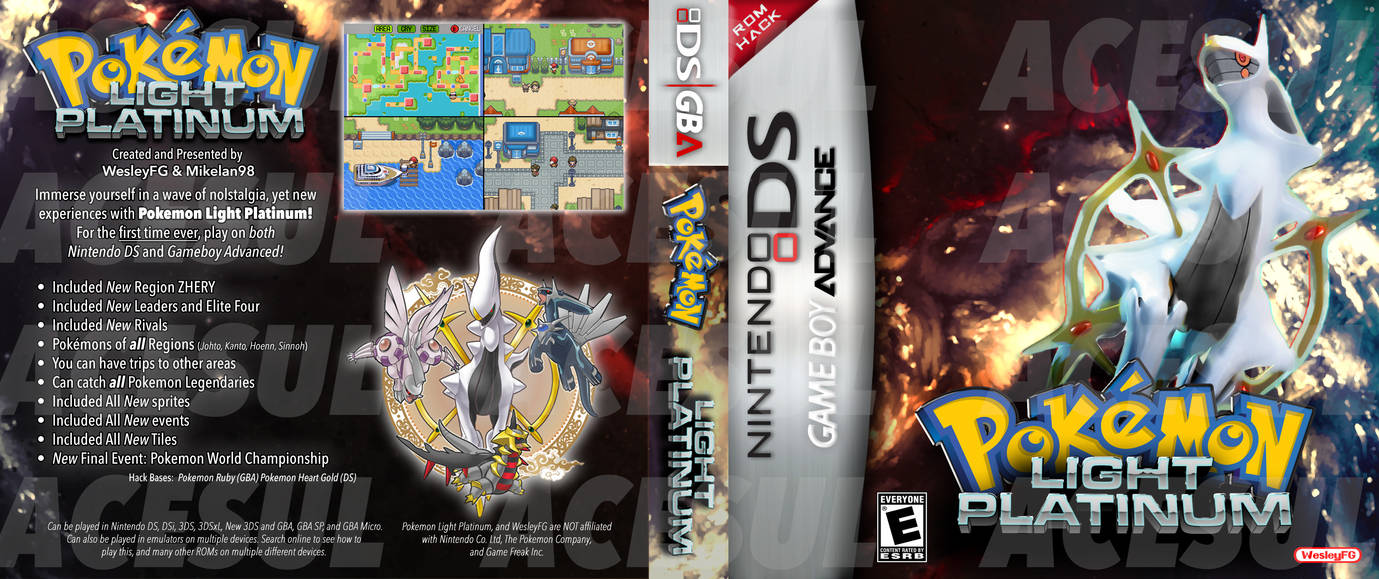 pokemon light platinum nds rom hack download