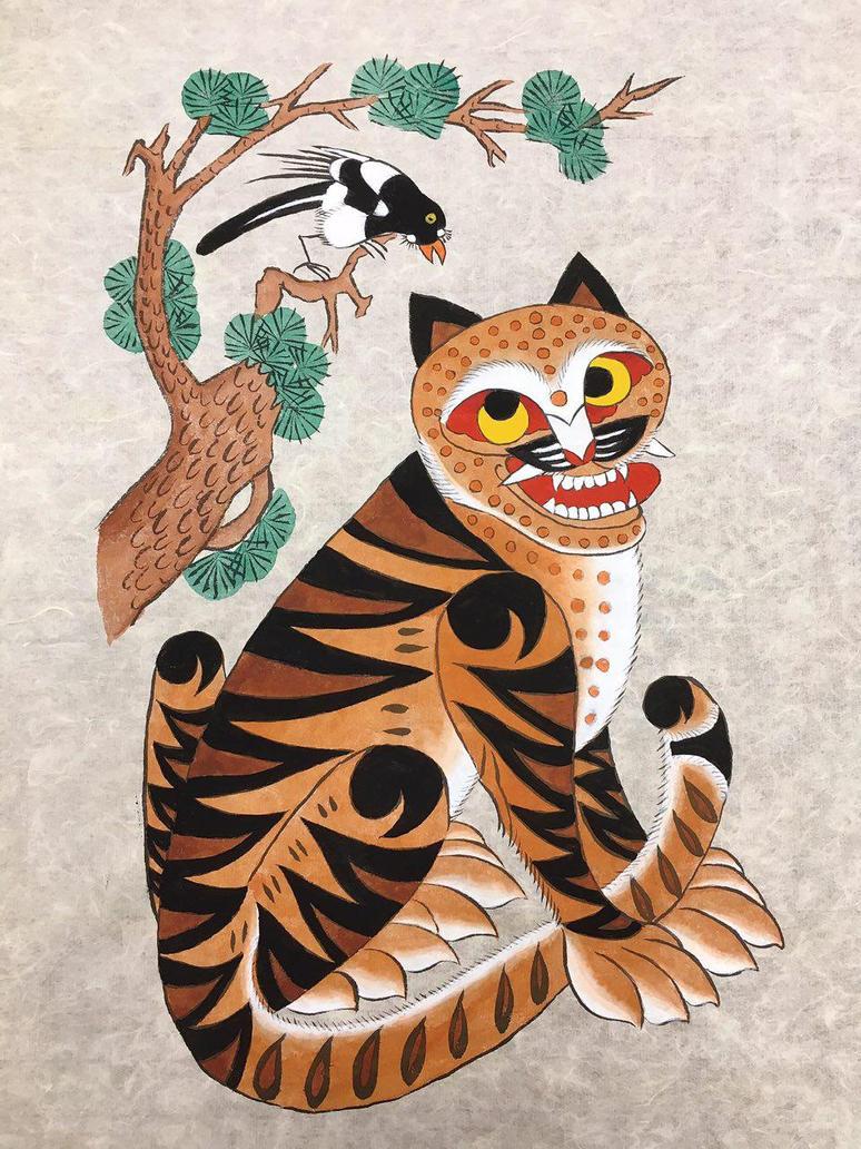 http://pre09.deviantart.net/077f/th/pre/f/2017/163/e/4/minhwa__traditional_korean_art__tiger_and_magpie_by_pixelpatissier-dbcf5zg.jpg Traditional