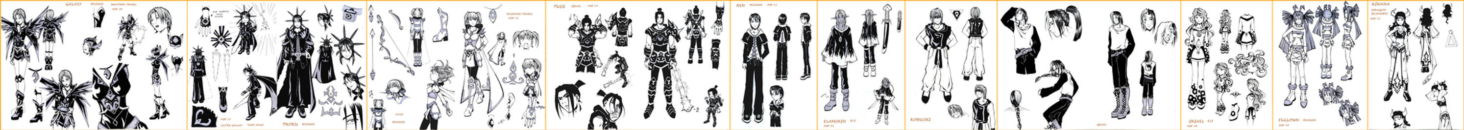 manga characters set2 by AgataKa19