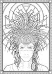 Aztec lineart