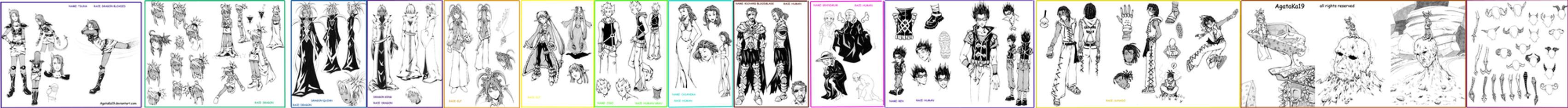 manga characters by AgataKa19