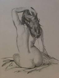 Charcoal study, nude.