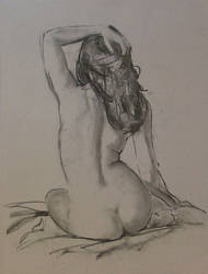 Charcoal study, nude. by RFord-Art