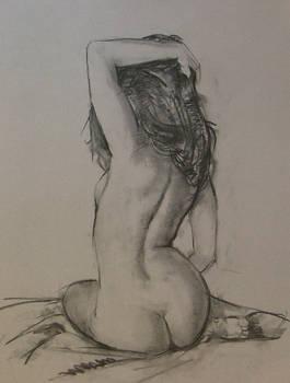 Charcoal study, nude 2