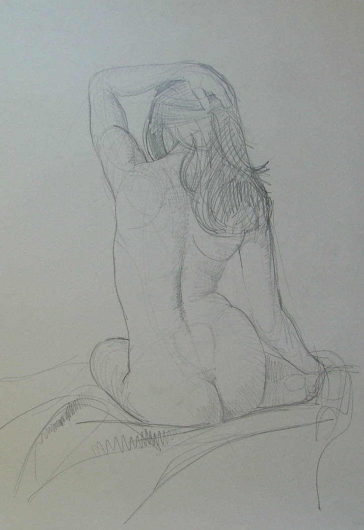 Nude study pencil by RFord-Art