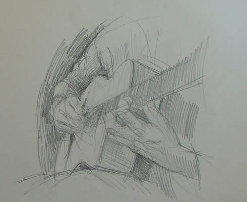 Hands study, Guitar