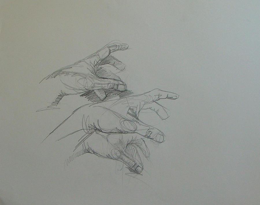 Hand studies by RFord-Art