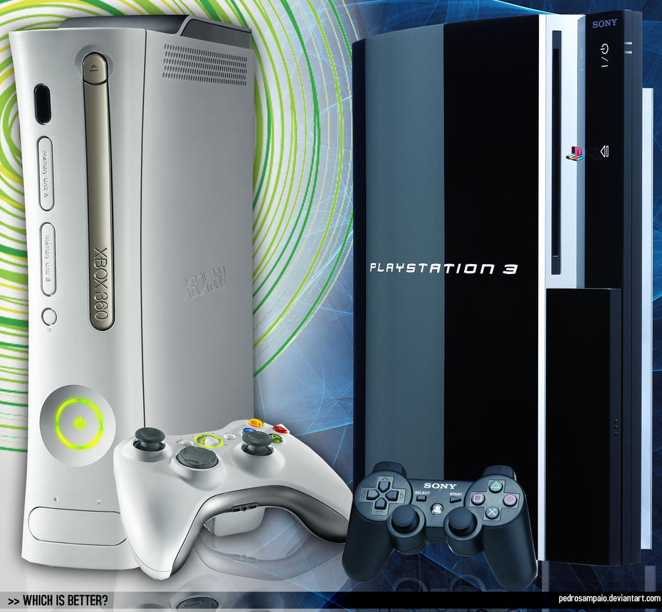 xbox 360 vs playstation 3 by pedrosampaio on deviantart