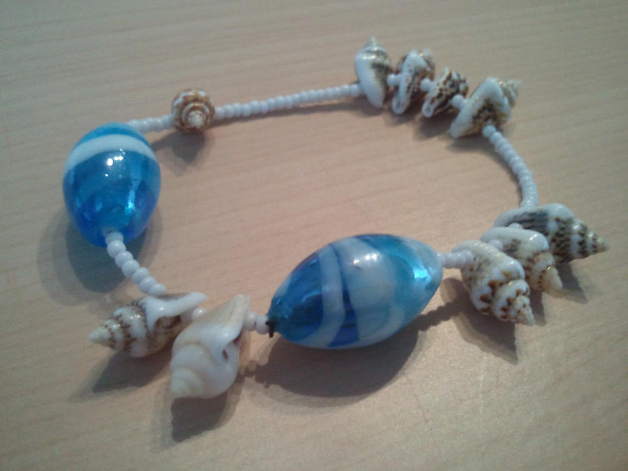 Sand, Sea, and Shell Bracelet by reverse-will