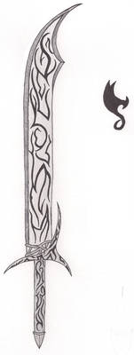Falchion with less curve, fantasy style