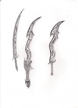 Three fantasy swords