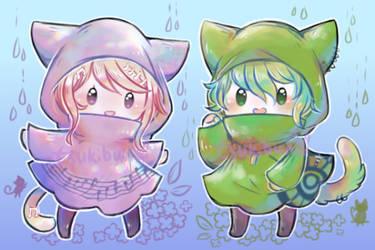 Rainycatrankaede by akatsukibunnyX3