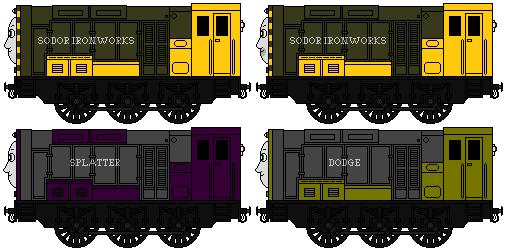 Arry, Bert, Splatter And Dodge By