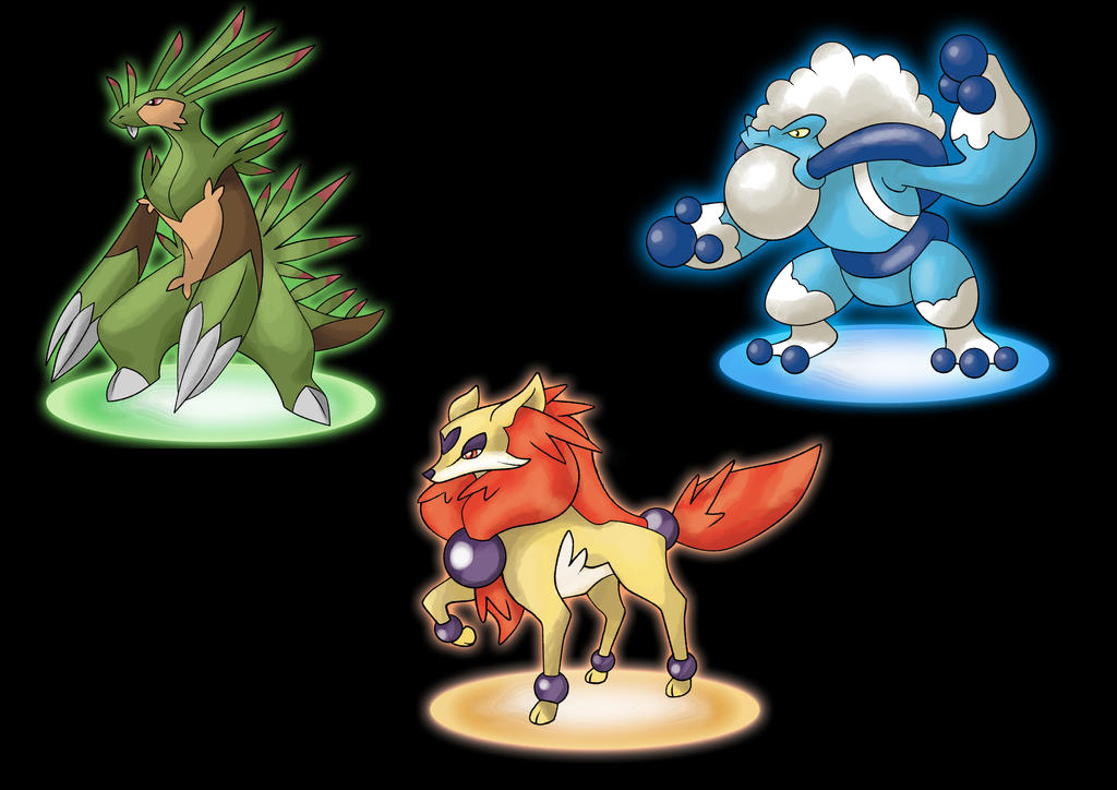 New Pokemon X an...X And Y Starter Evolutions
