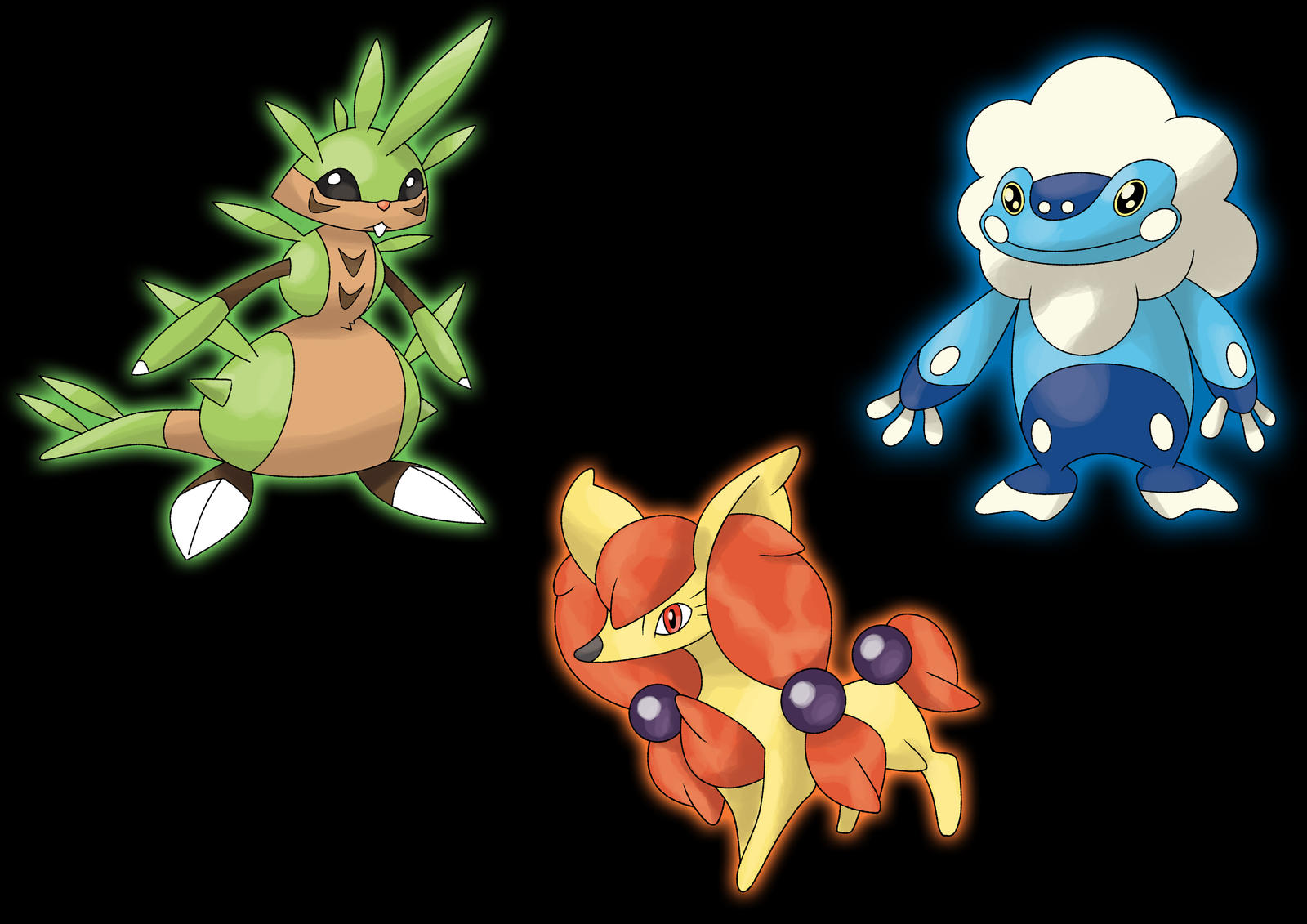 pokemon x y: starters possible evolutions stage 1 by ecoabismo on