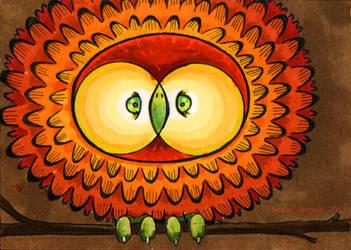 Owltober 9th by saffronscarf