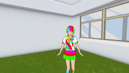 Yandere Simulator rainbow skin! by YandereLo