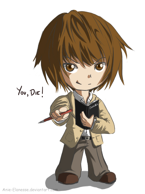 death note light and l chibi - photo #16