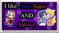 sasunaru and sakura fan stamp by Sakuras-Inner-Fan