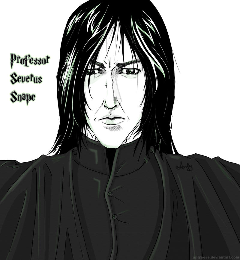 how to draw severus snape
