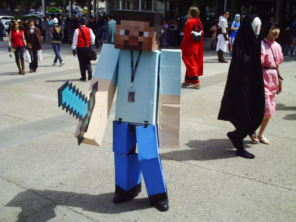 Minecraft steve cosplay by gigemphats